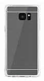 Eiroo Mirror Samsung Galaxy Note FE Silikon Kenarlı Aynalı Siyah Rubber Kılıf