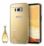 Eiroo Mirror Samsung Galaxy S8 Plus Metal Kenarlı Aynalı Gold Rubber Kılıf