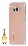 Eiroo Mirror Samsung Galaxy S8 Plus Silikon Kenarlı Aynalı Rose Gold Rubber Kılıf