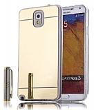 Eiroo Mirror Samsung N9000 Galaxy Note 3 Silikon Kenarlı Aynalı Gold Rubber Kılıf