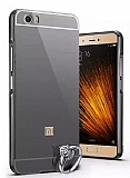 Eiroo Mirror Xiaomi Mi 5 Metal Kenarlı Aynalı Siyah Rubber Kılıf