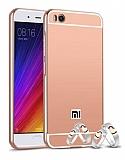 Eiroo Mirror Xiaomi Mi 5s Metal Kenarlı Aynalı Rose Gold Rubber Kılıf