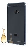 Eiroo Mirror Xiaomi Mi Note 2 Metal Kenarlı Aynalı Siyah Rubber Kılıf