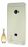 Eiroo Mirror Xiaomi Mi Note 2 Metal Kenarlı Aynalı Gold Rubber Kılıf