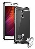 Eiroo Mirror Xiaomi Redmi Note 4 / Redmi Note 4X Metal Kenarlı Aynalı Siyah Rubber Kılıf