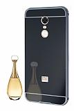 Eiroo Mirror Xiaomi Redmi Note 5 / Redmi 5 Plus Metal Kenarlı Aynalı Siyah Rubber Kılıf