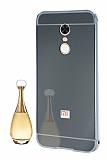 Eiroo Mirror Xiaomi Redmi Note 5 / Redmi 5 Plus Metal Kenarlı Aynalı Silver Rubber Kılıf