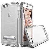 Eiroo Mixx Hybrid iPhone 6 / 6S Standlı Silver Silikon Kılıf