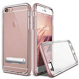 Eiroo Mixx Hybrid iPhone 6 / 6S Standlı Rose Gold Silikon Kılıf