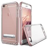 Eiroo Mixx Hybrid iPhone 6 Plus / 6S Plus Rose Gold Kenarlı Standlı Silikon Kılıf