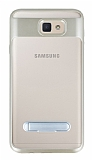 Eiroo Mixx Hybrid Samsung Galaxy J7 Prime Gold Kenarlı Standlı Silikon Kılıf