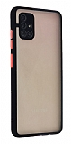 Eiroo Montre Samsung Galaxy M51 Ultra Koruma Siyah Kılıf