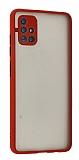Eiroo Montre Samsung Galaxy A72 / A72 5G Ultra Koruma Kırmızı Kılıf