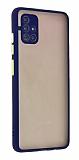 Eiroo Montre Samsung Galaxy M51 Ultra Koruma Lacivert Kılıf