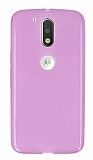 Motorola Moto G4 / G4 Plus Ultra İnce Şeffaf Pembe Silikon Kılıf