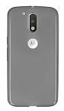 Motorola Moto G4 / G4 Plus Ultra İnce Şeffaf Siyah Silikon Kılıf