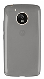 Eiroo Motorola Moto G5 Ultra İnce Şeffaf Siyah Silikon Kılıf