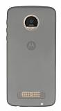 Eiroo Motorola Moto Z Play Ultra İnce Şeffaf Siyah Silikon Kılıf