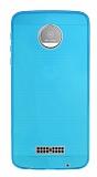 Motorola Moto Z Ultra İnce Şeffaf Mavi Silikon Kılıf