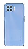 Eiroo Mun Oppo Reno4 Lite Şeffaf Mavi Silikon Kılıf
