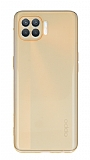 Eiroo Mun Oppo Reno4 Lite Şeffaf Açık Turuncu Silikon Kılıf