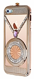 Eiroo Necklace iPhone 5 / 5S Metal Rose Gold K�l�f
