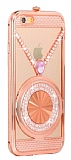 Eiroo Necklace iPhone 6 / 6S Metal Rose Gold K�l�f