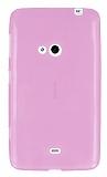 Eiroo Nokia Lumia 625 Ultra �nce �effaf Pembe Silikon K�l�f