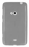 Nokia Lumia 625 Ultra İnce Şeffaf Siyah Silikon Kılıf