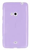 Eiroo Nokia Lumia 625 Ultra �nce �effaf Mor Silikon K�l�f