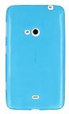 Eiroo Nokia Lumia 625 Ultra �nce �effaf Mavi Silikon K�l�f