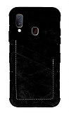 Eiroo Notecase Samsung Galaxy A20 / A30 Cüzdanlı Siyah Rubber Kılıf