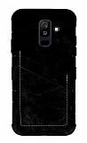 Eiroo Notecase Samsung Galaxy A6 Plus Cüzdanlı Siyah Rubber Kılıf