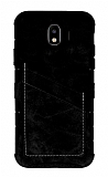 Eiroo Notecase Samsung Galaxy J4 Cüzdanlı Siyah Rubber Kılıf