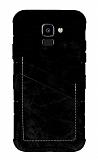 Eiroo Notecase Samsung Galaxy J6 Cüzdanlı Siyah Rubber Kılıf