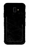 Eiroo Notecase Samsung Galaxy J6 Plus Cüzdanlı Siyah Rubber Kılıf