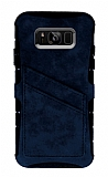 Eiroo Notecase Samsung Galaxy S8 Cüzdanlı Siyah Rubber Kılıf