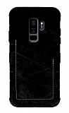 Eiroo Notecase Samsung Galaxy S9 Plus Cüzdanlı Siyah Rubber Kılıf