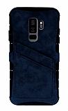 Eiroo Notecase Samsung Galaxy S9 Plus Cüzdanlı Lacivert Rubber Kılıf