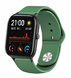 Eiroo Oppo Watch Spor Silikon Koyu Yeşil Kordon (41 mm)