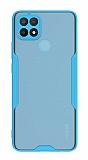 Eiroo Painted Oppo A15s Kamera Korumalı Mavi Kılıf