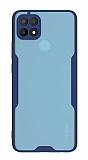 Eiroo Painted Oppo A15s Kamera Korumalı Lacivert Kılıf