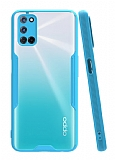 Eiroo Painted Oppo A72 Mavi Silikon Kılıf