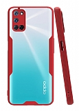 Eiroo Painted Oppo A72 Kırmızı Silikon Kılıf