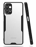 Eiroo Painted Samsung Galaxy A32 5G Kamera Korumalı Siyah Kılıf