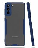 Eiroo Painted Samsung Galaxy A02s Kamera Korumalı Lacivert Kılıf