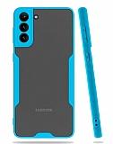 Eiroo Painted Samsung Galaxy A02s Kamera Korumalı Mavi Kılıf