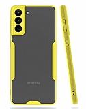 Eiroo Painted Samsung Galaxy A02s Kamera Korumalı Sarı Kılıf