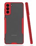 Eiroo Painted Samsung Galaxy A02s Kamera Korumalı Kırmızı Kılıf