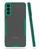 Eiroo Painted Samsung Galaxy A02s Kamera Korumalı Yeşil Kılıf